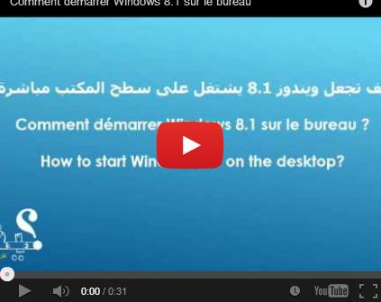 كيف تجعل ويندوز 8.1 يشتغل على سطح المكتب مباشرة؟