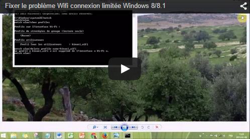 Comment fixer le problème impossible de se connecter à internet wifi sous windows 8 ou sous windows 8.1